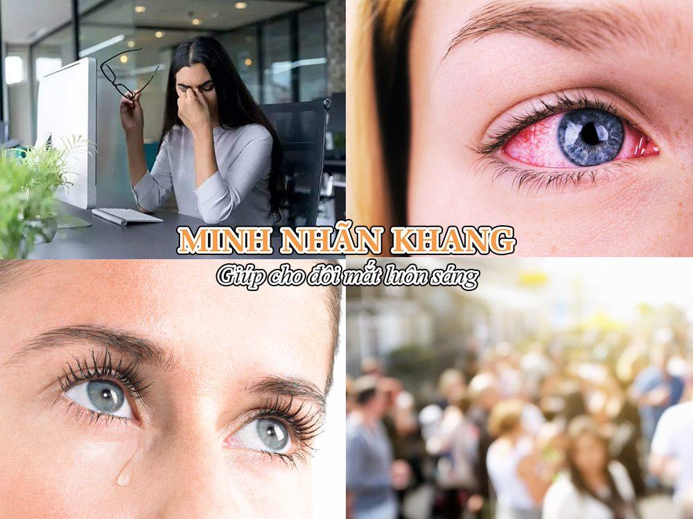 Ô nhiễm môi trường khiến mắt cộm nhức, sưng đỏ, dễ kích ứng, nhìn mờ
